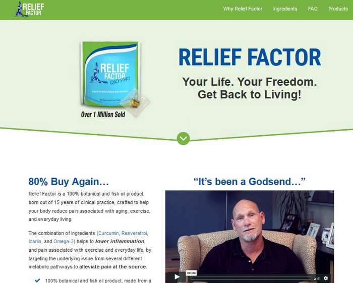official website relief factor