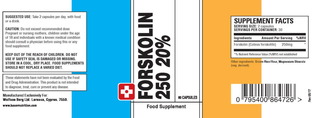 forskolin 250 label
