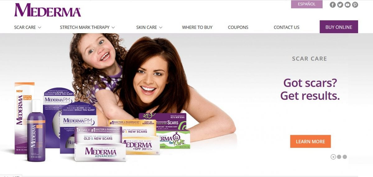 mederma official website