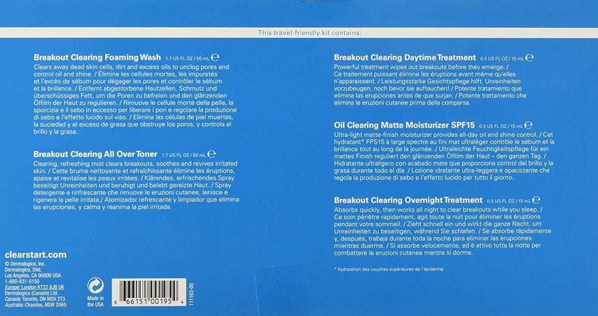 Dermalogica Breakout Clearing Kit Ingredients