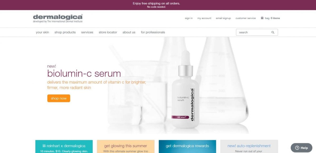 Dermalogica Official Website