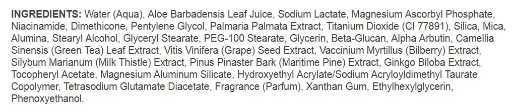 Illuminatural 6i Ingredients