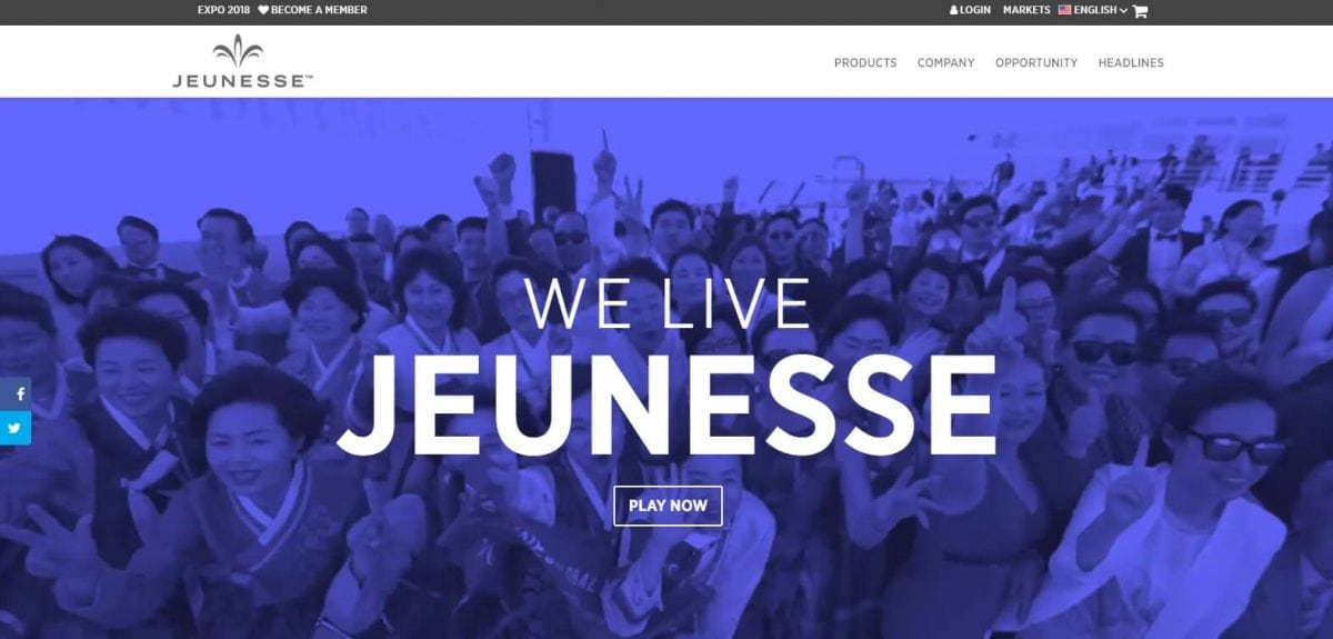 Jeunesse Official Website
