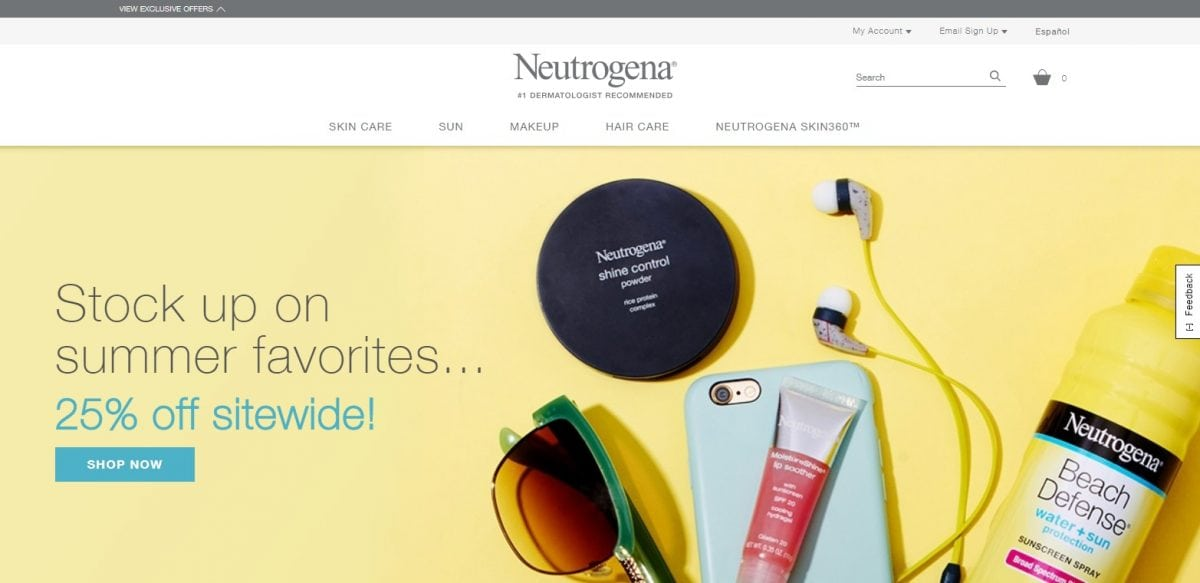 Neutrogena Official Website