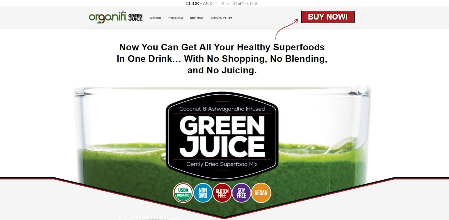 Organifi Green Juice Official Website