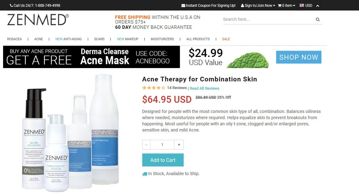 zenmed acne therapy official website