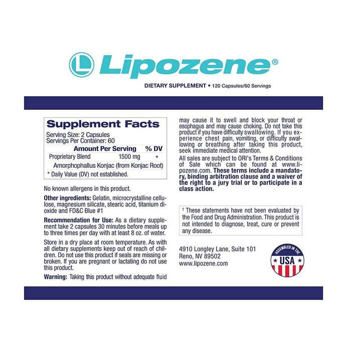 lipozene label